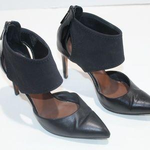 Donald J Pliner Heels Dressy Black Leather Strap 6